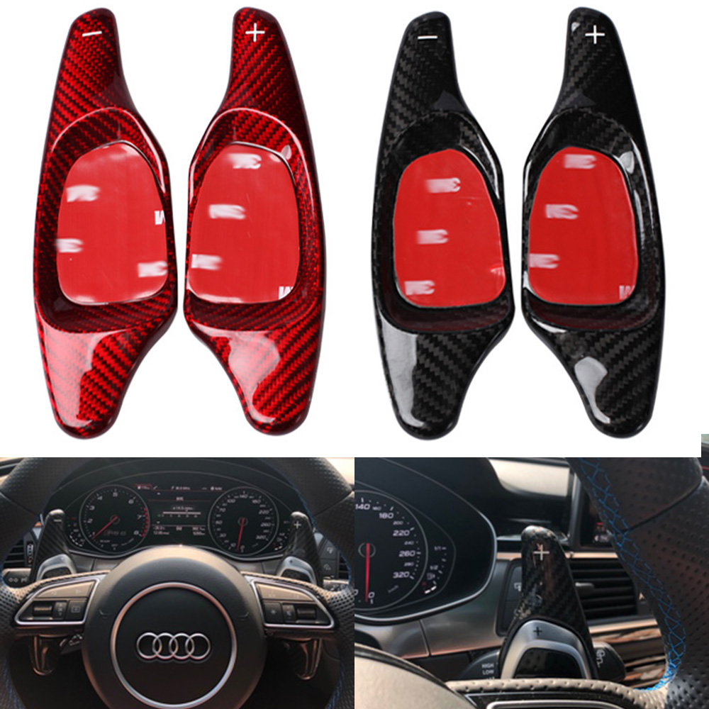 Steer Wheel Paddle Extension Shifter Cover Trim For Audi A4 S4 B9 8W A5 2017