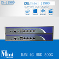 cheap industrial firewall pc linux quad core  celeron J1900 2.0GHZ support ROS Mikrotik PFSense Panabit Wayos PC 4G HDD 500G