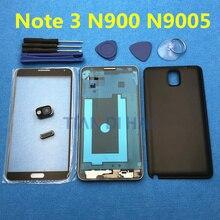 Volledige Behuizing Case Midden Frame + Batterij Cover + Front Screen Glas Lens Voor Samsung Galaxy Note 3 N900 N9005 n900S + Gereedschap