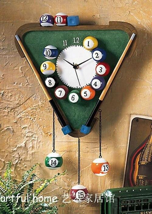 Moderne numérique horloges murales billard aime horloge cloche mode décoration murale individualité peinture à la maison moderne nouveau design uni
