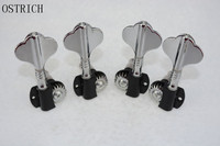 Set 2R2L Chrome Electric Bass Guitar Tuning Pegs Machine Heads Tuners New