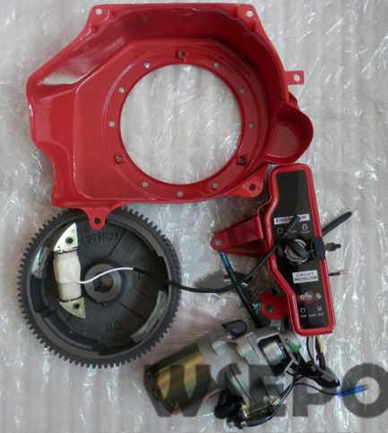 Chongqing Quality! Electric Start Build Kit(Incl. start motor/Housing/flywheel, coil etc) for GX160/GX200/168F/170F Gas Engine