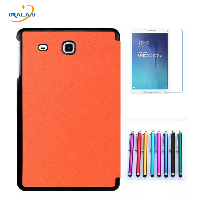 цены 2018 new case for samsung galaxy tab E 9.6 T560 T561 9.6'' tablet cover folio business stand + stylus+ Screen Protector film