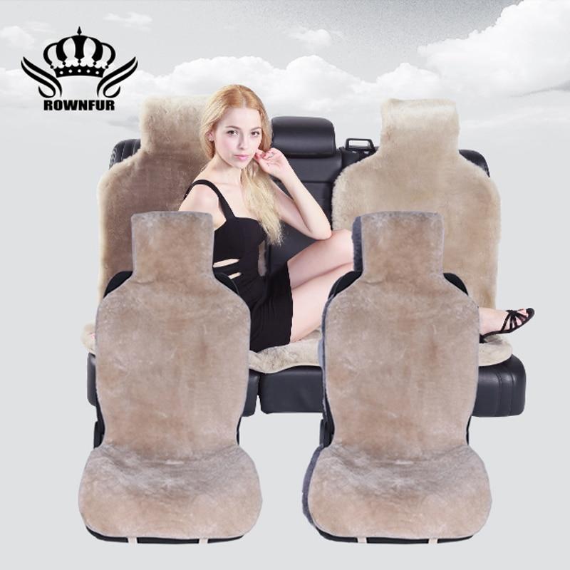 australian sheepskin car seat covers universal car seat mat car sheepskin seat cover car accesories automobiles
