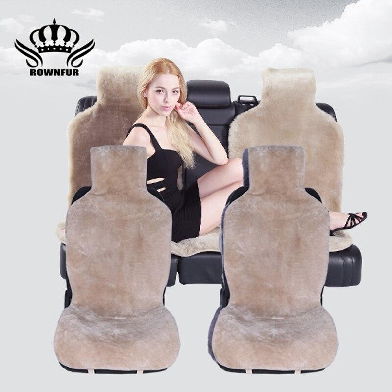 Pelle di pecora australiana seat covers universale seggiolino auto stuoia auto sedile di pelle di pecora della copertura accessori auto automobili seat covers