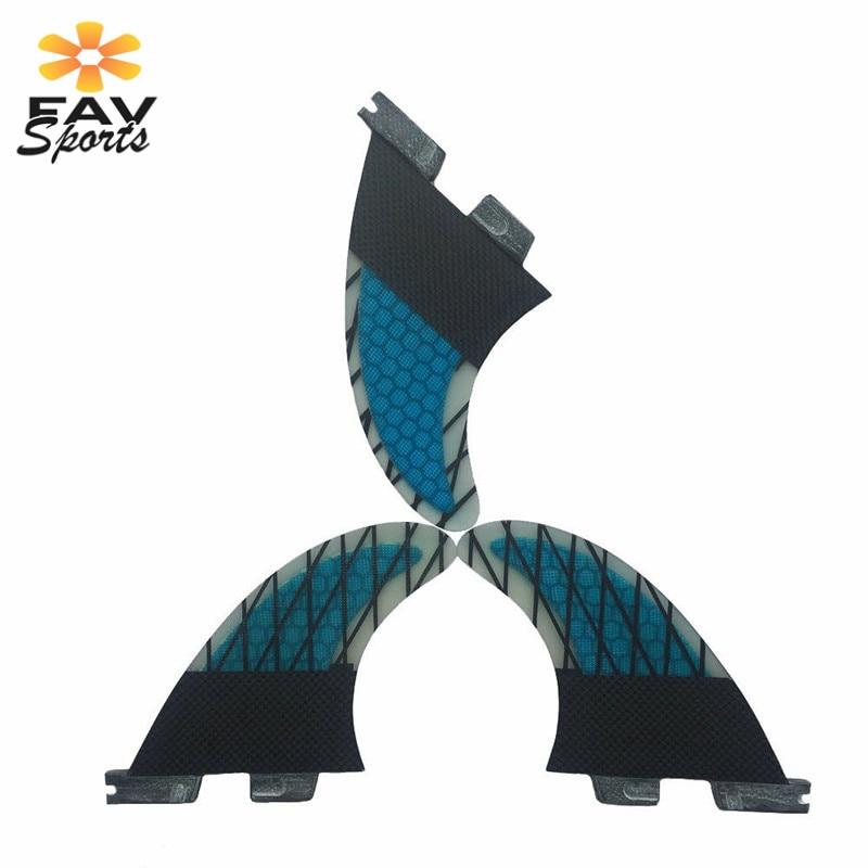 3 pièces/ensemble planche de surf aileron haute qualité en fibre de verre nid d'abeille Fcs planche de surf ailettes propulseurs FCS G7 planche ailerons taille L