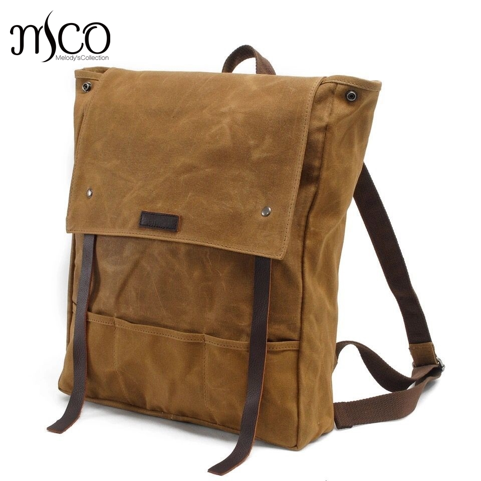 Mochila Canvas Men Casual Daypacks Youth School Backpack Vintage Waterproof Travel Bag Preppy Style Female\Male Laptop Schoolbag casual canvas satchel men sling bag