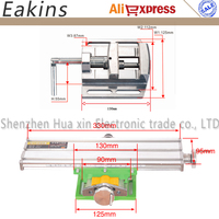 Aluminum Compound Bench Wood Working Fixture Work table X Y Axis Adjustment Precision Coordinate + 2.5'' Flat Tongs Vise