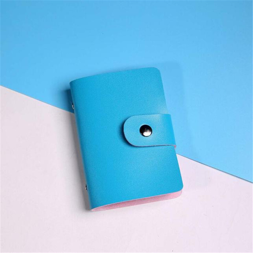 24 Bits Card Holder 2017 Business Card Bag For Men Women Leather Solid Credit Card Holder Case Card Holder Wallet carteras mujer xiniu 1pcs men s women leather credit card holder case card holder wallet business card package for 24 card pu leather bag a0708