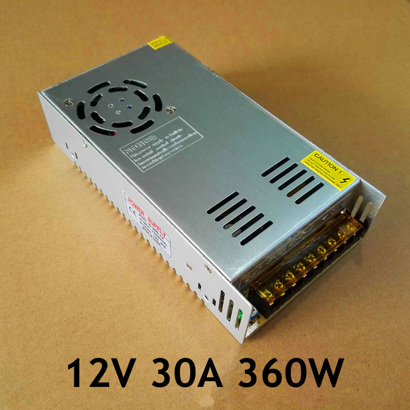 12V 30A 360W switching power supply input AC 100-240V LED light strip display monitor power supply freeshipoing 360w led switching power supply 85 265ac input 12v 30a for led strip light power suply ce rosh 12 output