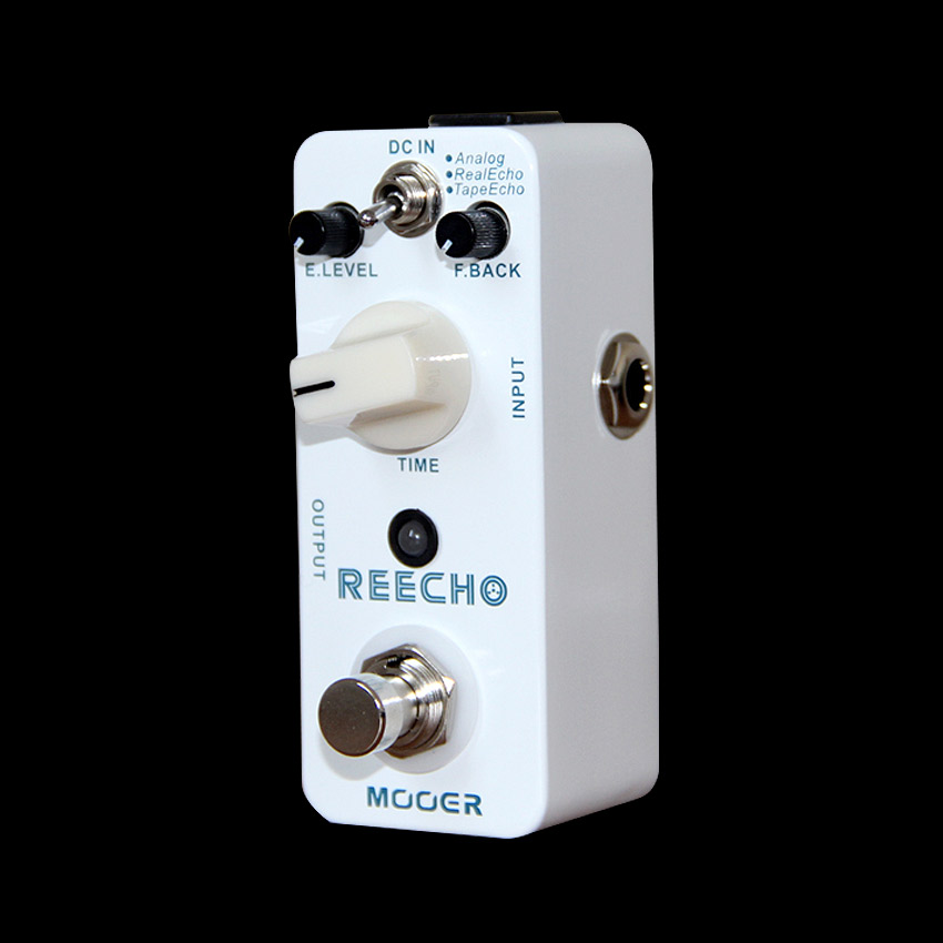 Mooer Reecho Delay Guitar Effects Pedal Analog/Real Echo/Tape Echo Guitar Pedal True Bypass Guitar Accessories mooer single acoustic delay chorus effects true bypass baby water effect guitar pedal