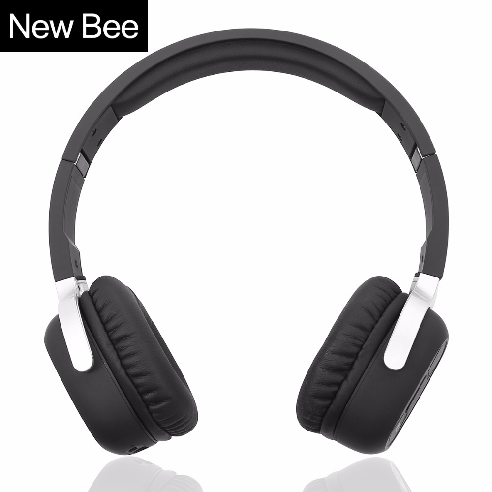 все цены на New Bee Wireless Bluetooth Headphones with Mic NFC Sport Bluetooth Headset with App Stereo Earphone for Phone Computer TV онлайн
