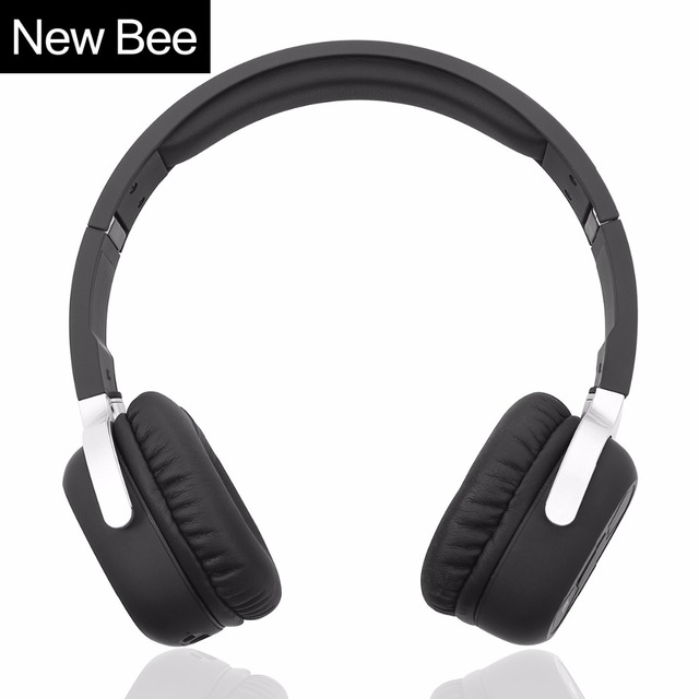New Bee Wireless Bluetooth Headphones with Mic NFC Sport Bluetooth Headset with App Stereo Earphone for Phone Computer TV