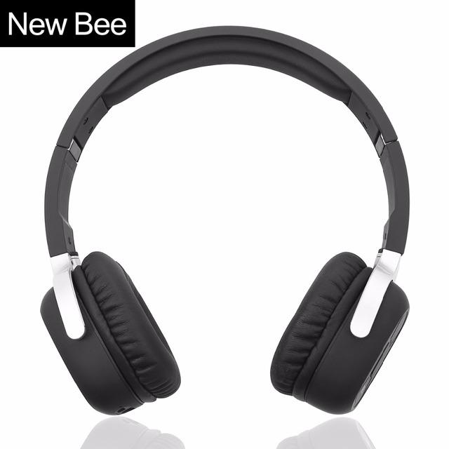 New bee bluetooth inalámbrico auriculares con micrófono estéreo deporte auricular bluetooth con app nfc auricular para el teléfono del ordenador tv