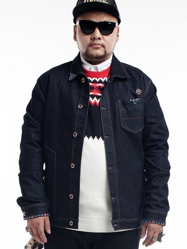 Big Men Autumn Denim Jacket Black Plus Size Mens Jeans Jackets and ...