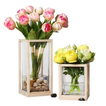 6pcs/ Bundle Free Shipping Stunning Holland PinkTulip Decorative Flower Artificial Tulip Wedding Bunch