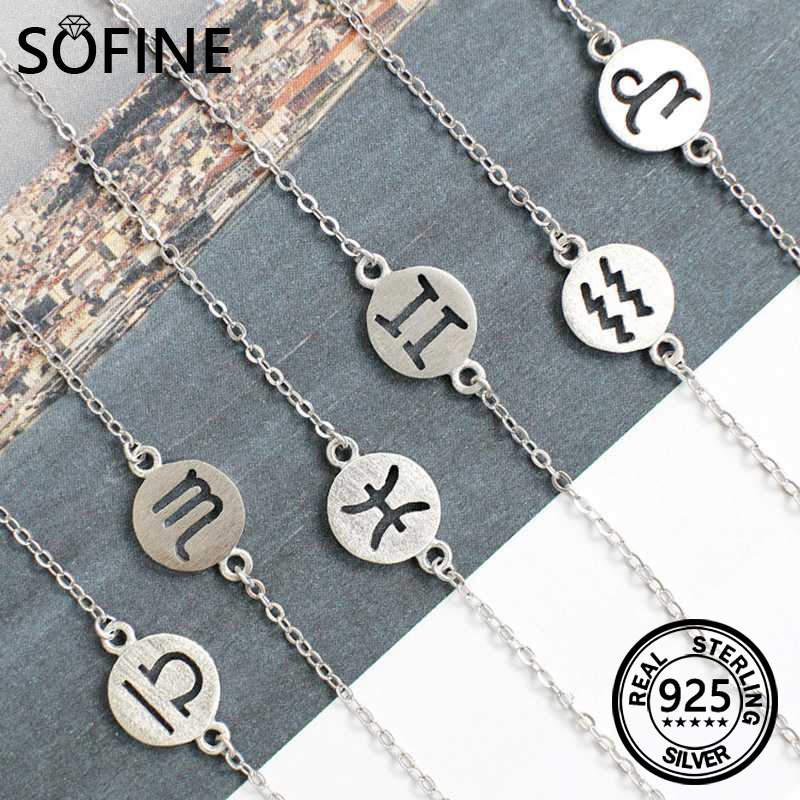 SOFINE Doce constelaciones pulsera 925 joyas de plata esterlina para - Joyas - foto 1