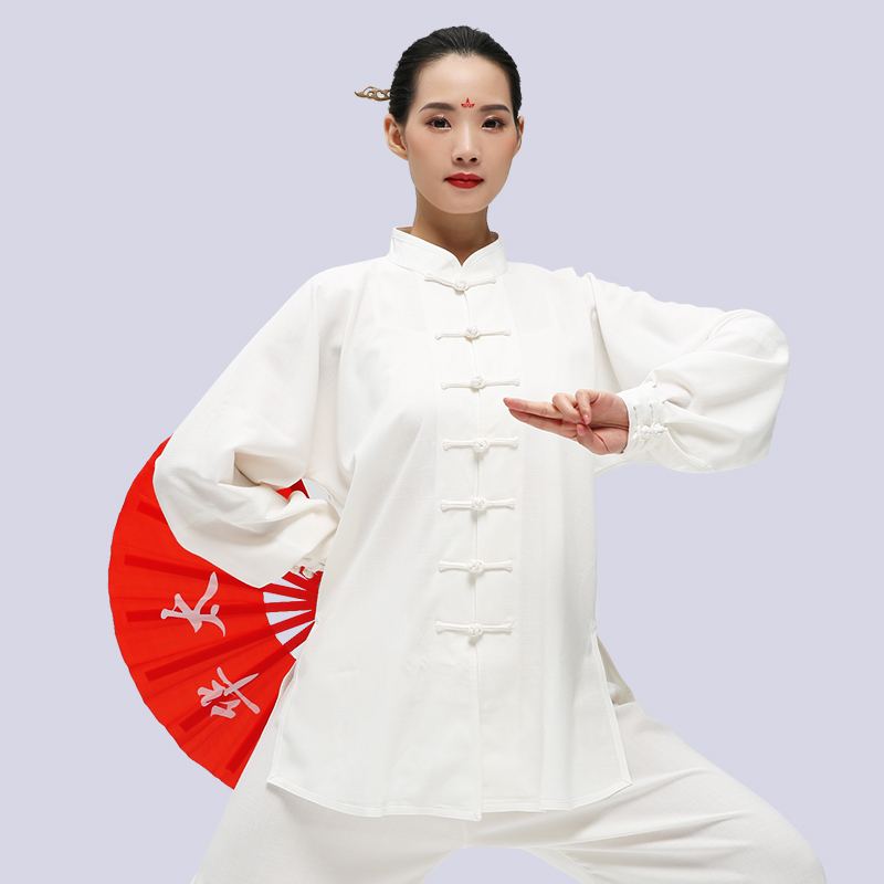 Man And Woman Tai Chi Clothes Kung Fu Wushu Uniform Black White Pink Purple And Blue Colors