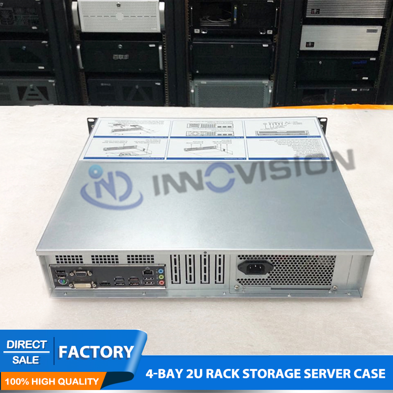 Image 5 - Flexible Ultra short 2U case L=400mm huge storage 4bays hotswap 2U rack server chassis for firewall/NVR-in Industrial Computer & Accessories from Computer & Office