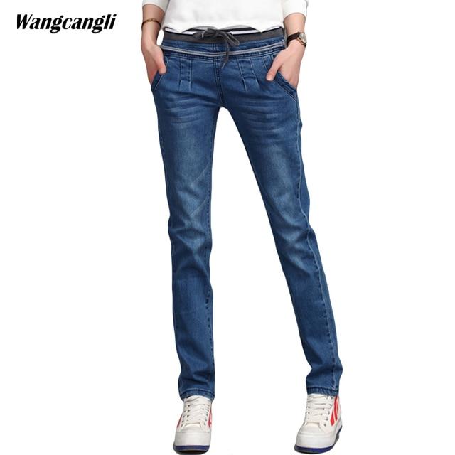 Top Jeans Stretch per le donne harem pantaloni con coulisse jeans  VY42