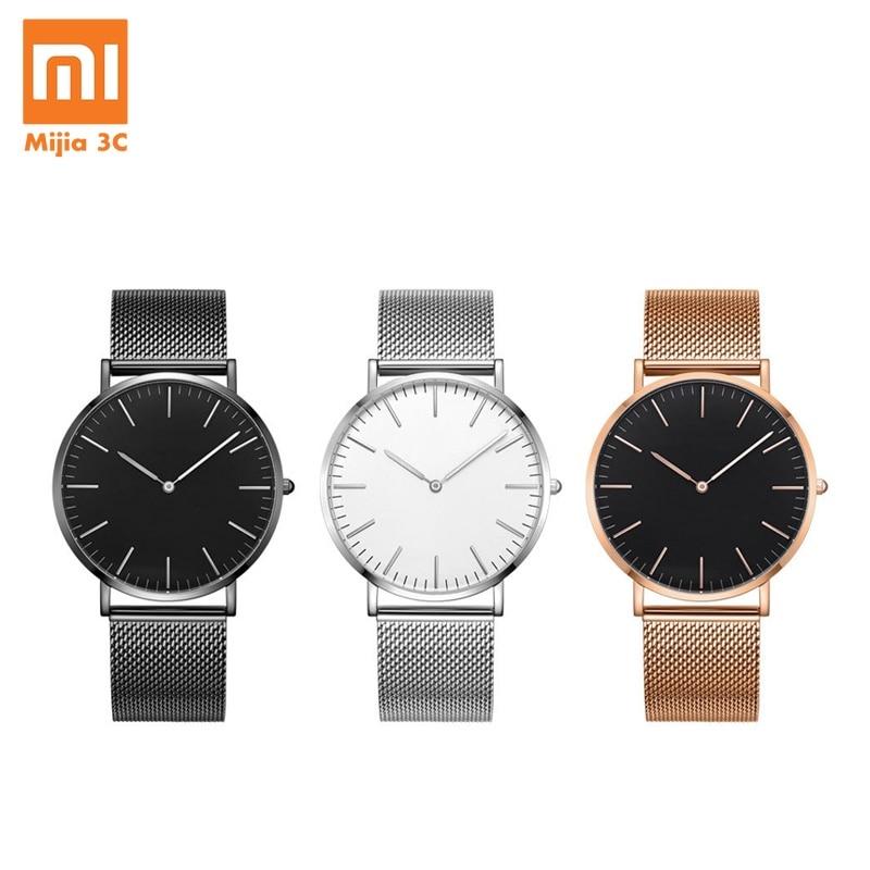 Original Xiaomi Quartz Watch Youpin TwentySeventeen Series Ultra thin Quartz Watch Casual Business Waterproof Couple Wrist Watch Smart Remote Control     - title=
