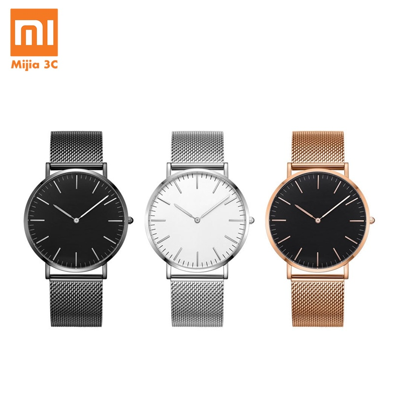 Original <font><b>Xiaomi</b></font> Quartz Watch <font><b>Youpin</b></font> TwentySeventeen Series Ultra-thin Quartz Watch Casual Business Waterproof Couple Wrist Watch image