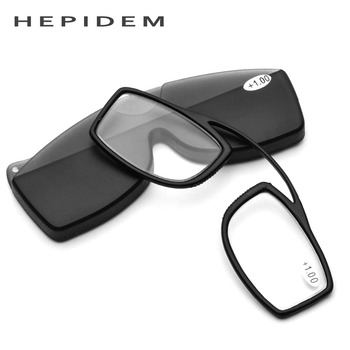 TR90 Pince Nez Style Nose Resting Pinching Portable Pince-Nez Reading Glasses No Arm Old Men Women +1.50 +2.00 +2.50