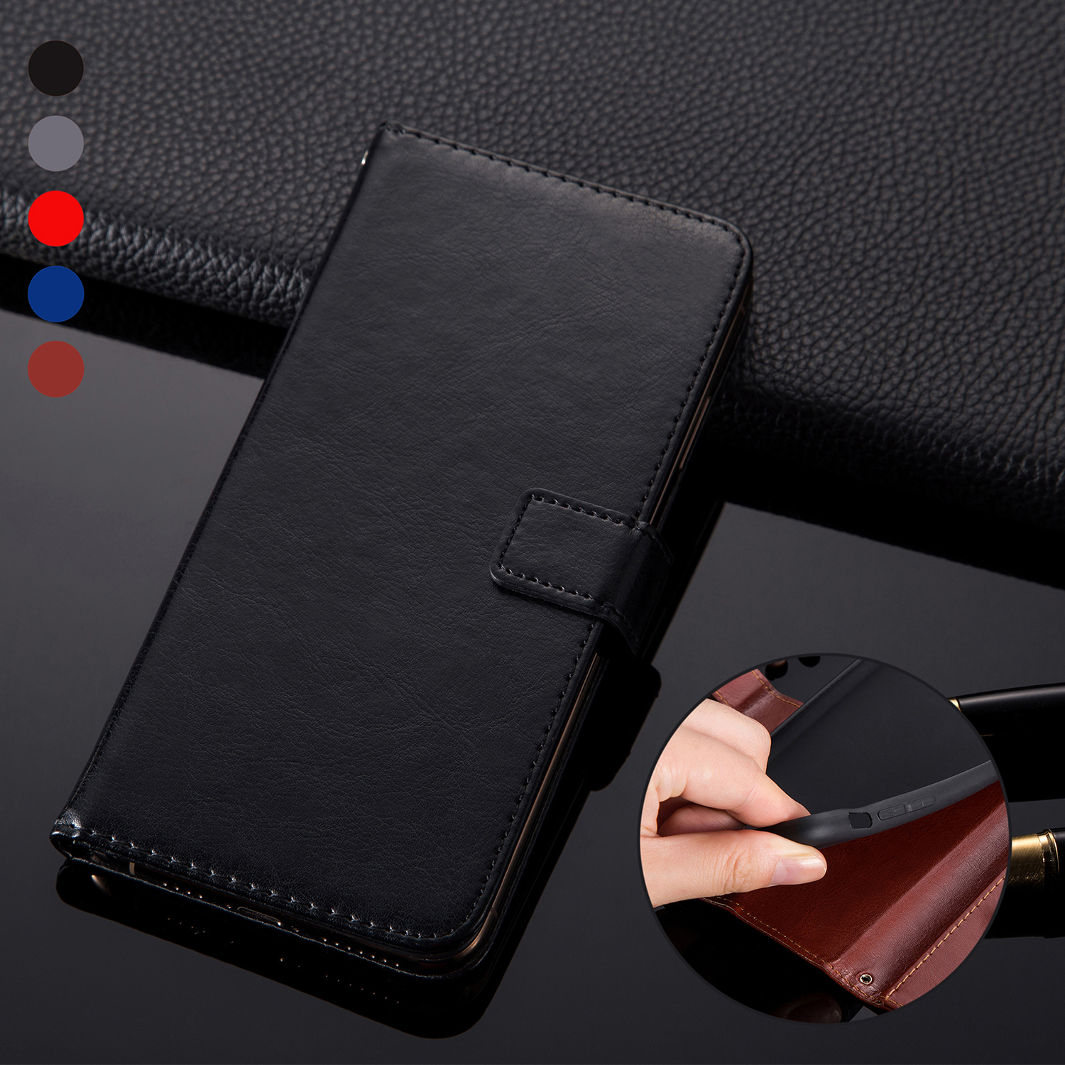 Meizu M5S Case Cover PU Leather Wallet Case On Maisie M5s M5c M6 m 5 6 note 16th 16s Flip Phone Bag Case For Meizu Note 9 Cover