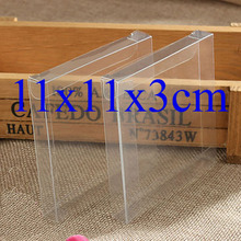 Wholesale100pcs=1lot Clear PVC Box Packing Wedding/Christmas Favor Candy/Flower/Apple/Gift/Candle/Toys Box 11*11*3cm Custom Box