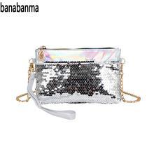 Banabanma Женская модная блестка маленькая сумочка портативный органайзер чехол карман для сотового телефона ZK37