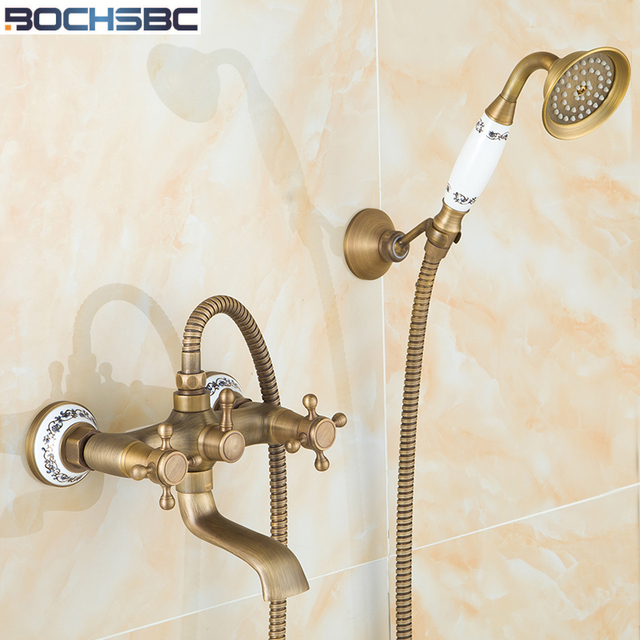 BOCHSBC Retro Bathroom Shower Set European Style Telephone Shape ...