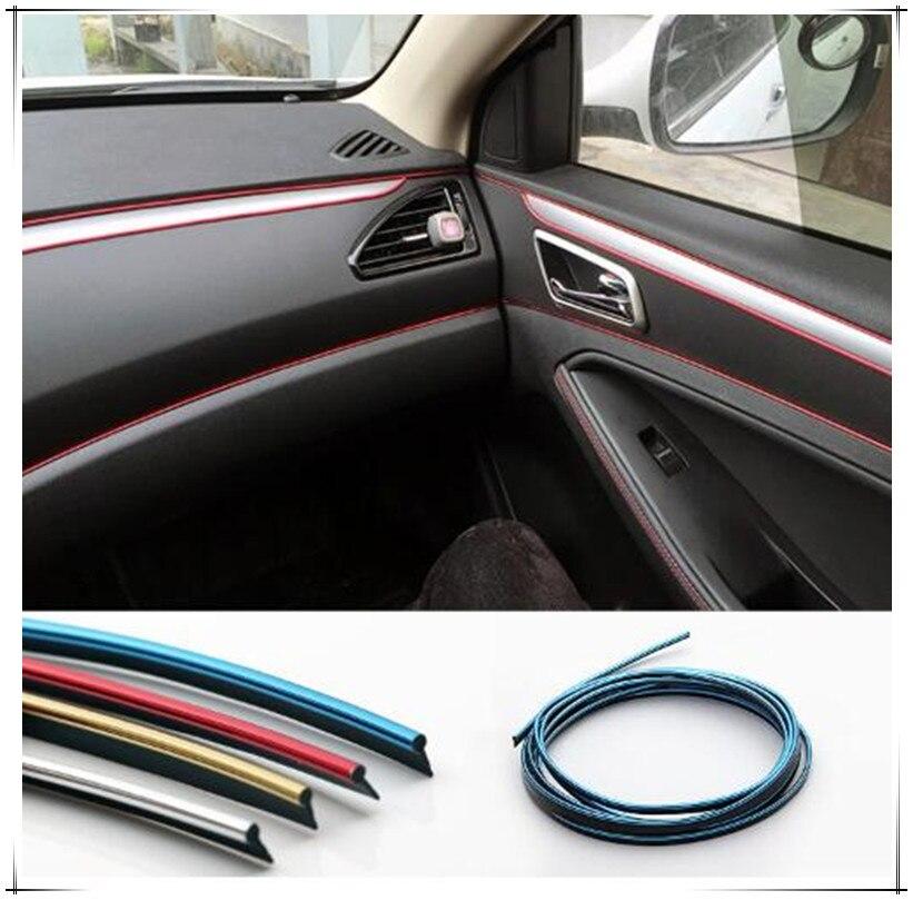 5M Interior Sticker Decoration Strip Car Styling for Audi A3 A4 A5 A6 TT A8 B5 B6 B8 C4 C5 C6 S5 S6 Q3 Q5 Q7 R8 RS5 Accessories Mercedes-Benz CLA-класс
