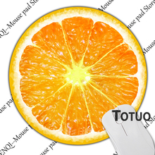 Luxury Printing Orange Wallpaper Mousepad Durable Rubber Mouse Mat Computer Laptop Gaming Mice Pad Round Style
