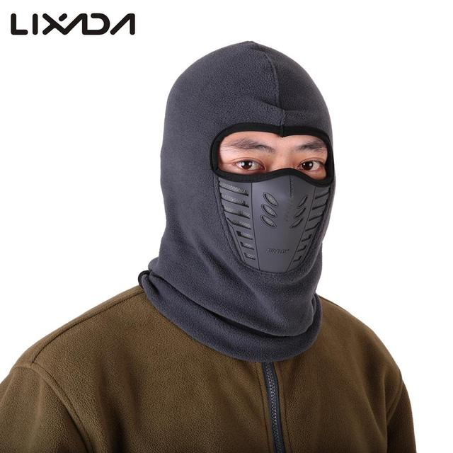 Lixada Cycling Face Mask Winter Fleece Warm Full Face Cover Anti-dust Windproof Ski Mask Snowboard Hood Thermal Balaclavas Scarf