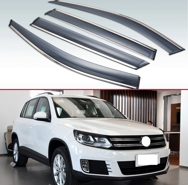 For VW Tiguan 2009 2010 2011 2012 2013 2014 2015 2016 Plastic Exterior Visor Vent Shades Window Sun Rain Guard Deflector|Awnings & Shelters| |  - title=