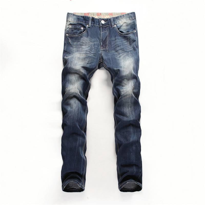 ФОТО #3256 2016 Korean Mens jeans slim straight Fashion Pantalon homme Mens distressed jeans Designer jeans men high quality