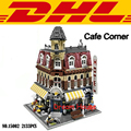 2017 LEPIN 15002 2133 Unids Creadores City Cafe Esquina Kits de Edificio Modelo Bloques Ladrillos Compatibles Juguete Para Niños de Regalo Con 10182