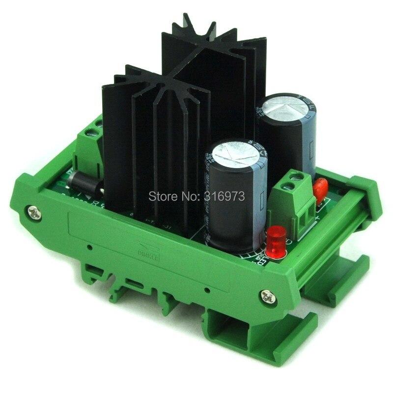 DIN Rail Mount Positive 24V DC Voltage Regulator Module, High Quality.