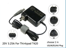 20V three.25A 65W for ThinkPad 420 SL300 T430 T430u T420 T430i T430s T420i T410i T400 laptop computer energy ac adapter charger transformer