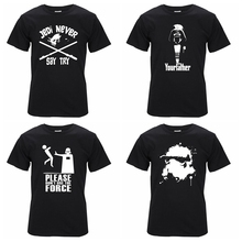 100% cotton short sleeve star wars print men tshirt