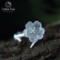 2015 New Arrival Genuine 925 Sterling Silver Handmade Jewelry Original Design Fresh Lotus Flower Ring For