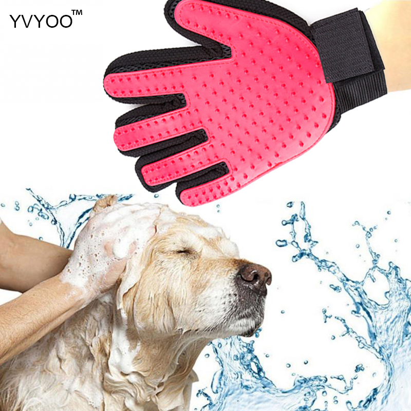 YVYOO Pet Dog Supplies pet Cat dog brush comb hair cleaning brush comfortable massage and effective massage gloves A91