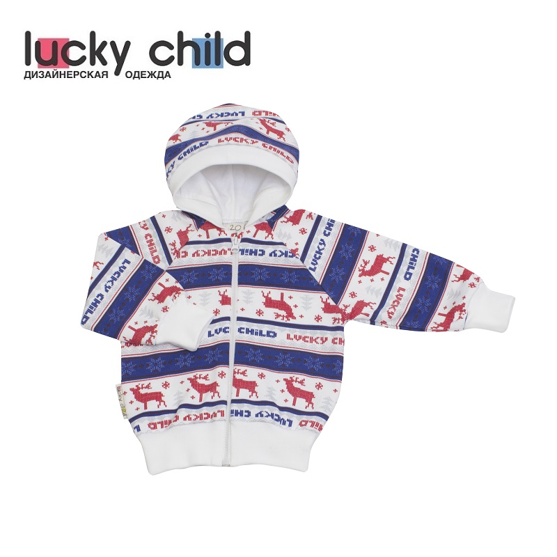 Hoodies & Sweatshirts Lucky Child for girls and boys 10-17f Cardigan Kids Baby clothing Children clothes 2018 europe and the united states spring autumn baby toddler kids girls cotton clothes butterfly cardigan tops pants outfits set