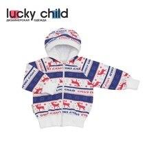 Куртка с капюшоном Lucky Child с начёсом для девочек и мальчиков, арт 10-17f (Скандинавия) [сделано в России, доставка от 2-х дней]