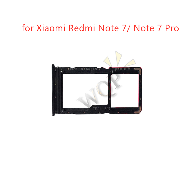 for Xiaomi Redmi Note 7/ Note 7 Pro Card Tray Holder SIM Card Micro SD Card Slot Adapter Replacement Repair Spare Parts(China)