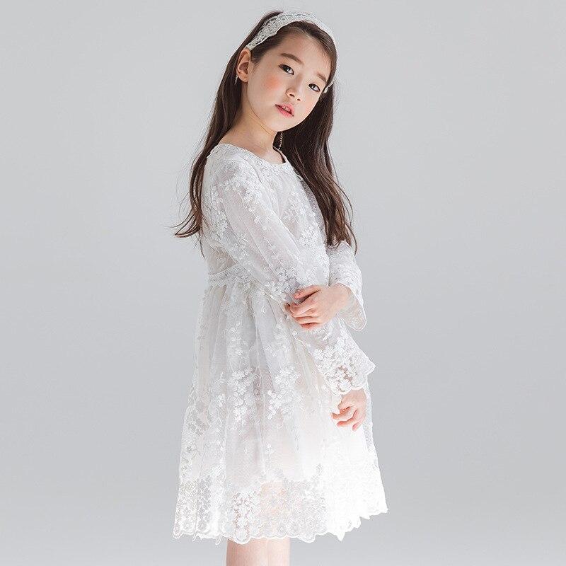 2019 New Kids Spring Dress Lace White Fancy Baby Girls Dresses Children Beautiful Dress Floral Toddler Princess Dress Cute #3779|Dresses| |  - title=