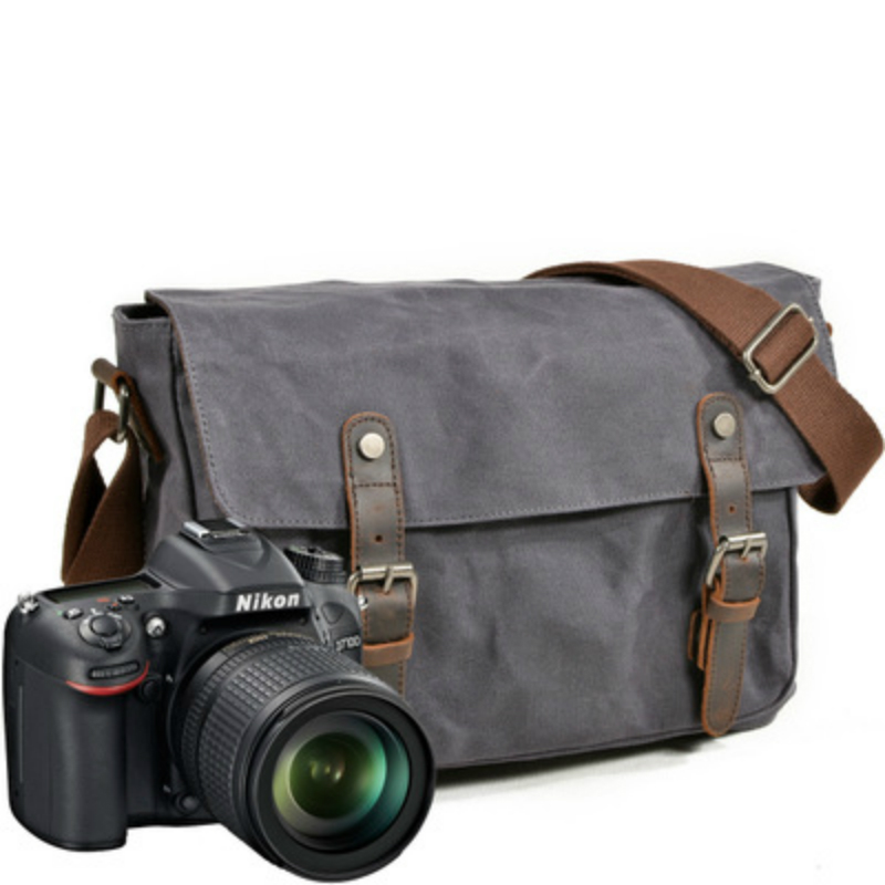 Canvas Camera Shoulder Bags SLR Camera Sling Bag For Men s Waterproof Functional Shoulder Messenger Bag