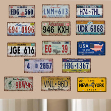American United State Car Plates Number USA License Plate Garage Plaque Metal Tin Sign Bar Decoration  sc 1 st  AliExpress.com & Buy decorative usa car plates and get free shipping on AliExpress.com