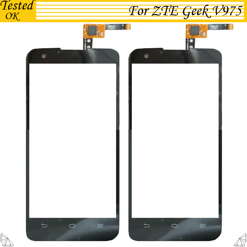 100% Tested Working For <font><b>ZTE</b></font> <font><b>Geek</b></font> <font><b>V975</b></font> U988S digitizer touch Screen Glass replacement parts For <font><b>ZTE</b></font> <font><b>Geek</b></font> V 975 touchScreen image