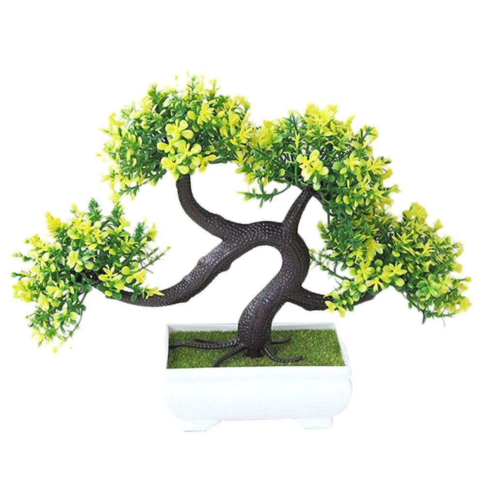 Искусственные растения искусственный цветок растения бонсай сад отель садовый декор Мода красивый ручной работы ДРАКОН борода дерево - Цвет: yellow